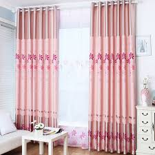 Insulated Thermal Curtains Thick Polyester Pink Color Floral Pattern Insulated Thermal Curtains