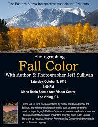 jeff sullivan photography eastern sierra fall colors presentation