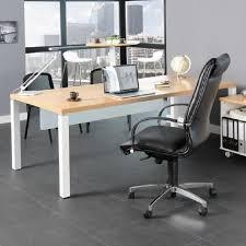 destockage bureau professionnel bureau professionnel 200x100 cm coloris chêne clair et blanc achat