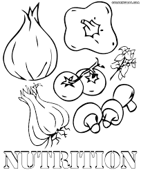 nutrition food coloring pages and print for educations free