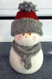 sock snowman pinteres