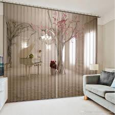 Home Decor For Bedroom 2017 Photo Customize Size 3dc White And Grey Custom Curtain