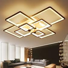 deckenle wohnzimmer new square ringe designer moderne führte deckenleuchten le für