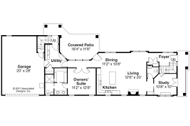 Narrow Home Floor Plans by Mediterranean House Plans Rimrock 30 817 Associated Designs