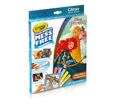 color glitter paper markers box disney princess