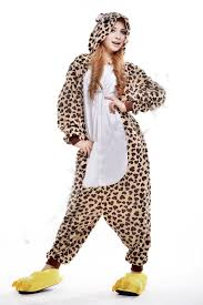 leopard halloween costume 2016 cosplay leopard bear kigurumi pajama no shoes pajamas hooded
