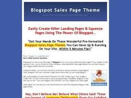 landing page templates for blogger blogspot salespage theme zhu template