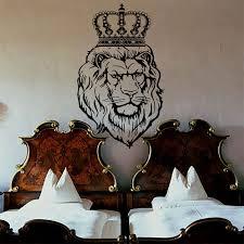 wall decals lion decal vinyl crown sticker nursery bedroom home