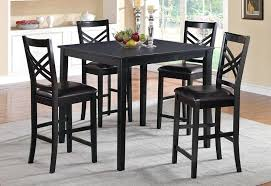 black high table and chairs black pub table set black pub table set small round bistro table set