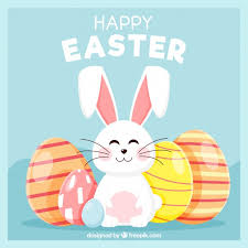 easter easter bunny flat happy easter day background vector free