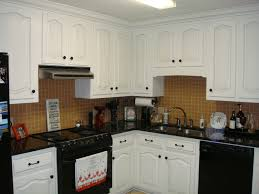 Kitchen With White Appliances by Black And White And Brown Kitchen Design Great Home Design