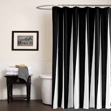 Polyester Shower Curtains Modern Polyester Shower Curtains Black White Striped Printed