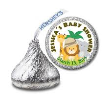 baby shower stickers sweet safari hershey u0027s kiss favor