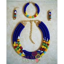 african jewelry necklace set images Bold african jewellery set jpg