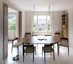 impressive extendable dining table in dining room contemporary