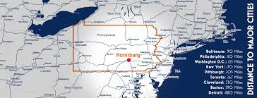 Warwick New York Map by Central Pa A Strategic Location Live The Life You Want