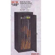stack on 18 gun convertible gun cabinet stack on 18 gun convertible cabinet 149 99 black friday 2013 in