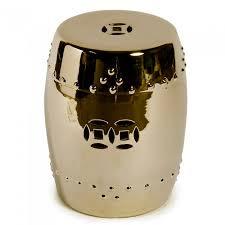 metallic gold porcelain garden stool pacifichomefurniture com