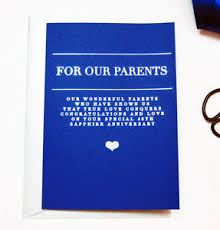 45 wedding anniversary personalised 45th sapphire wedding anniversary card by made with
