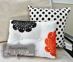 holiday decor diy halloween doily pillow delightfully noted
