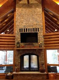 double sided fireplace indoor home design ideas