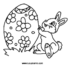 easter bunny and easter eggs coloring pages dessincoloriage