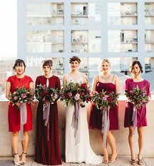 mix match bridesmaid dresses industrial san diego library wedding george mix