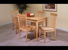 Ikea Kitchen Table And Chairs Set by Ikea Table And 4 Chairs Set Solid Pine Wood Dining Kitchen Youtube