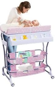 rolling baby changing table infant baby changing table 2 in 1 bath tub unit rolling station