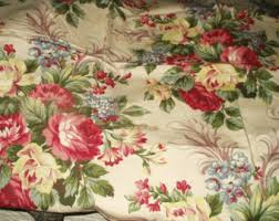 Vintage Floral Upholstery Fabric 1950s Floral Fabric Etsy