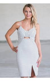 black and white stripe cocktail dress cute summer dress online