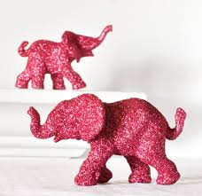 Pink Elephant Nursery Decor Pink Elephants Jungle Safari In Magenta Glitter For Baby