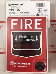 notifier honeywell nbg 12l manual pull alarm station new