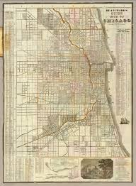 Map Chicago by Cover Blanchard U0027s Guide Map Of Chicago David Rumsey Historical
