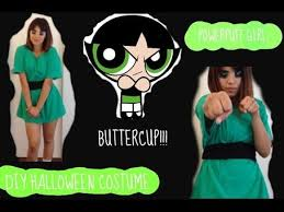 Powerpuff Girls Halloween Costumes Diy Halloween Costume Powerpuff Buttercup Hunt