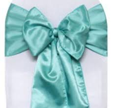 turquoise chair sashes linen chair sashes