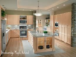 What Color Kitchen Cabinets Go With White Appliances Light Maple Cabinets Grey Floor Yahoo Image Search Results