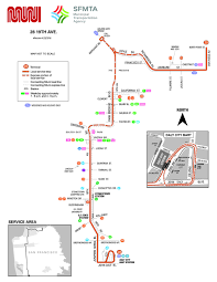 Bart Line Map by 28 19th Avenue Bus Route Sf Muni Sf Bay Transit