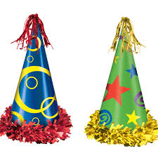 party hats bulk hats party supplies fringed printed foil party hats12cs
