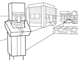 24 minecraft coloring pages images drawing