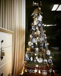 ladder christmas tree are ditching real trees for the ladder christmas trees