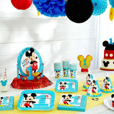 mickey mouse 1st birthday mickey mouse birthday partyware disney baby