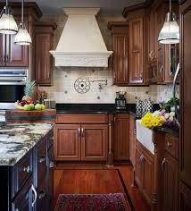 Kitchen Medallion Backsplash New York Kitchen Cherry Cabinets Transitional With Miele Cooktop