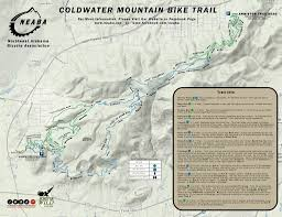 Oak Mountain State Park Trail Map by Coldwater Mountain Mountain Bike Trail In Anniston Alabama