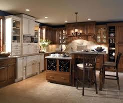 kitchen island cherry wood kemper cabinets cherry wood cabinets with a two level kitchen island