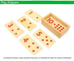 children wooden montessori math toy materials number puzzles 1 10
