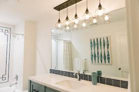 Contemporary Bathroom Vanity Lights Green Vanity With Black Tiles Contemporary Bathroom