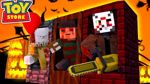 minecraft toy store the evil halloween toys arrive youtube