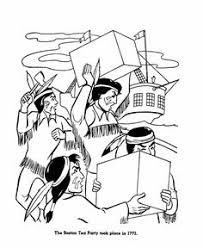 revoltionary war tea party coloring history