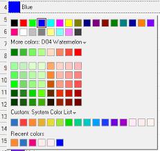 list of color help online origin help the plot details color list tab